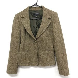 Club Monaco brown wool blazer w/ pockets 4